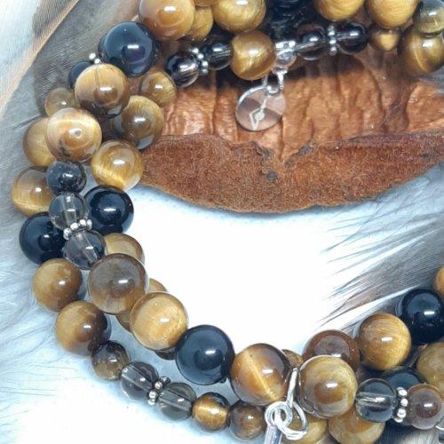 Peri di sogni - Bracelet Perle de pierre de gemmes